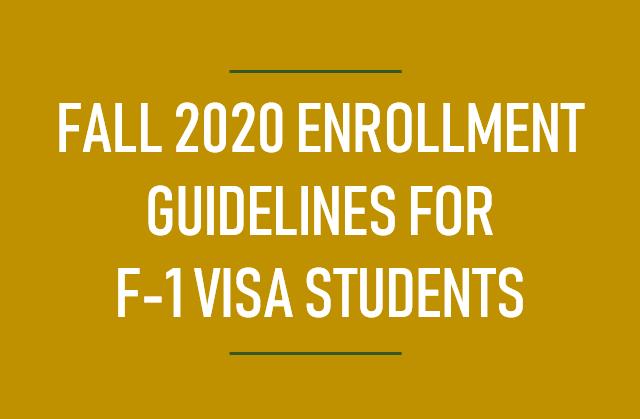 Fall 2020 enrollment link