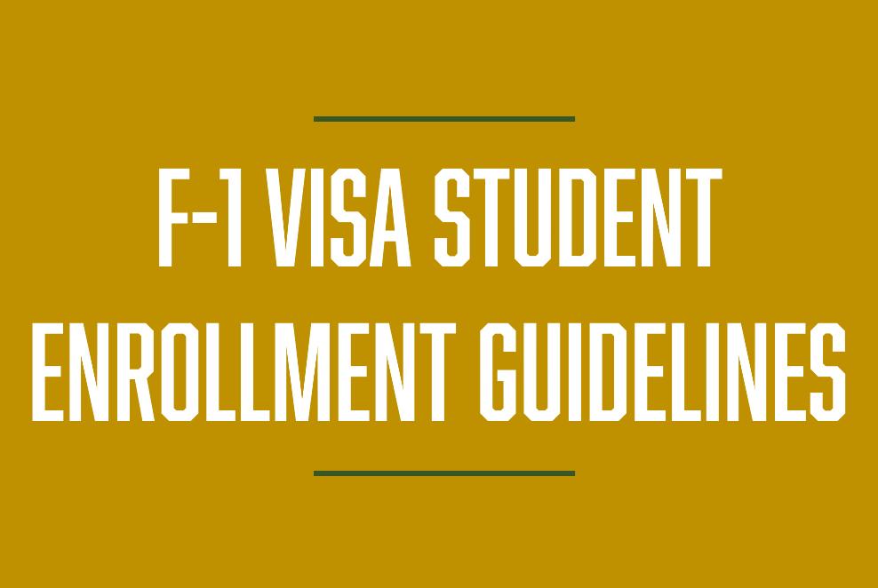 F-1 Visa Enrollment Guidelines
